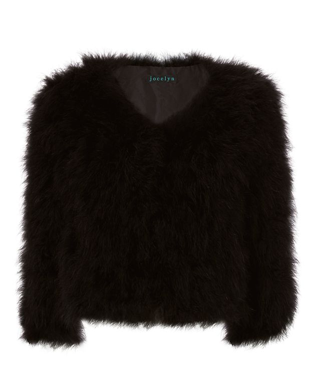 Jocelyn Fifi Marabou Feather Bolero