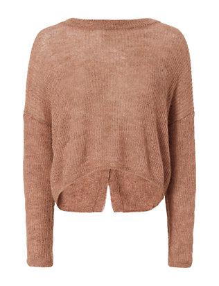 Crop Cross Back Sweater
