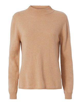 Knit Turtleneck: Camel