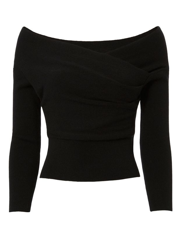 Michelle Mason Cross Front Crop Sweater