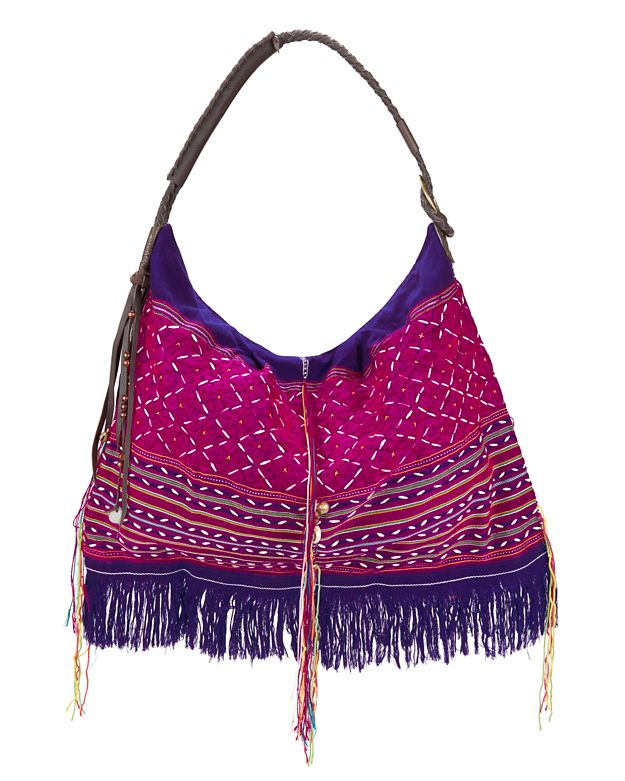 JADEtribe Karen Embellished Pattern Hobo