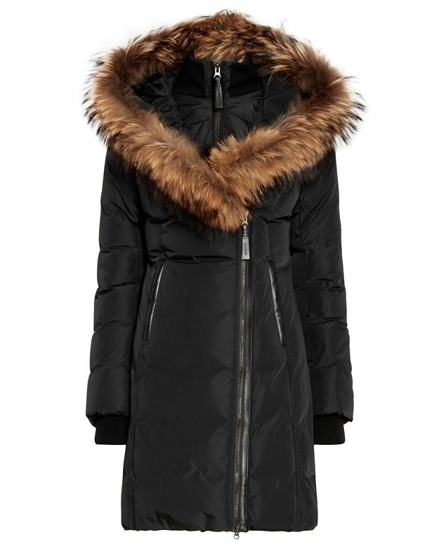 Mackage Kay Raccoon Fur Collar Parka: Black