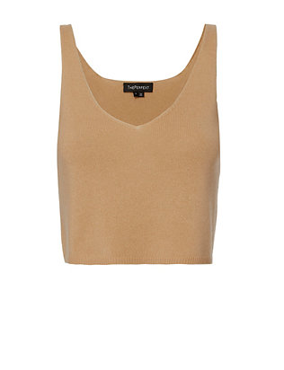 ThePerfext Kendall Cropped Cashmere Tank Top