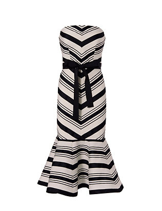 Alexis Kirsten Strapless Stripe Dress