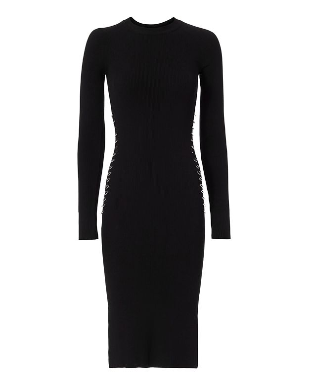 Mugler Ring Detail Knit Dress