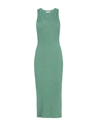 Mugler Ribbed Knit Sleeveless Dress