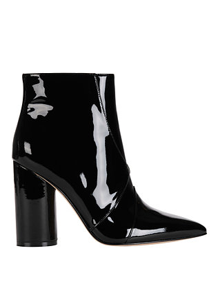 Sigerson Morrison Knox Pointy Toe Patent Leather Booties