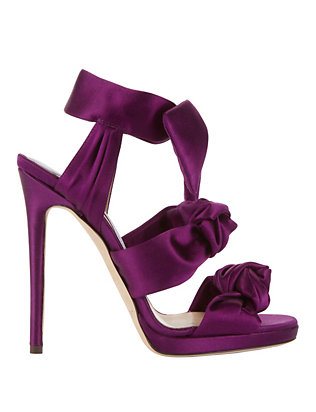 Kris Knot Satin Sandals