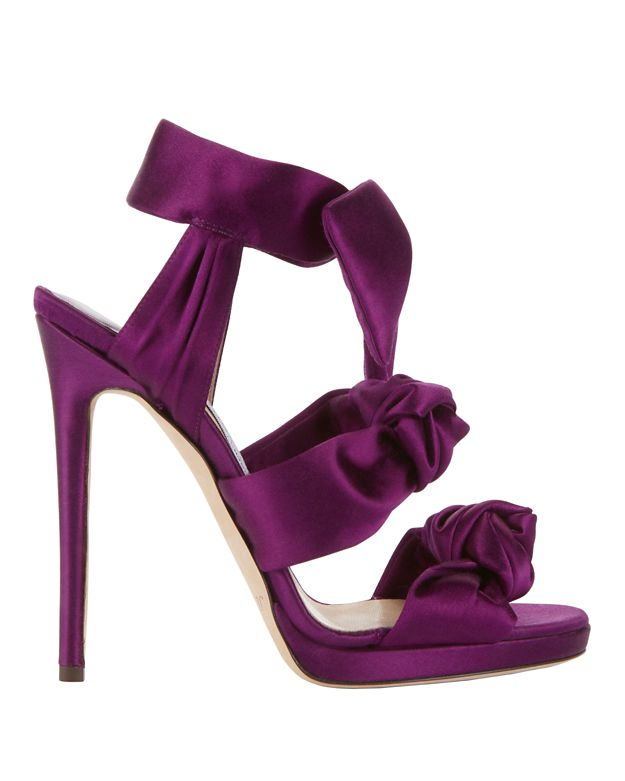 Jimmy Choo Kris Knot Satin Sandals
