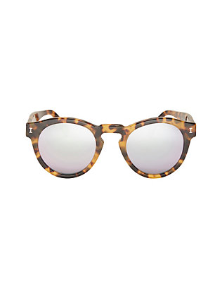 Leonard Mirrored Lense Tortoise Sunglasses