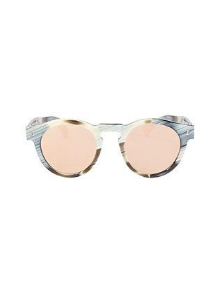 Leonard Round Horn Sunglasses