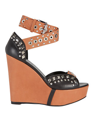 Studded Strap Combo Wedge