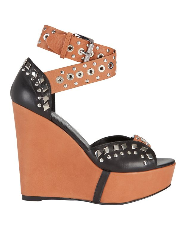 Barbara Bui Studded Strap Combo Wedge