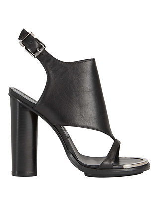 Barbara Bui Covered Vamp Sandal: Black