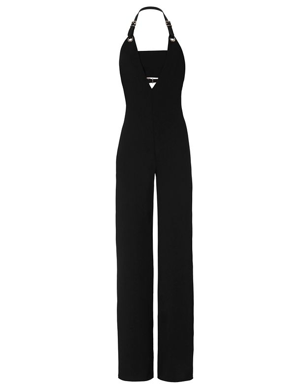 Barbara Bui Buckled Strap Halter Jumpsuit