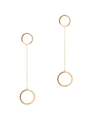 Laine Circle Drop Earrings