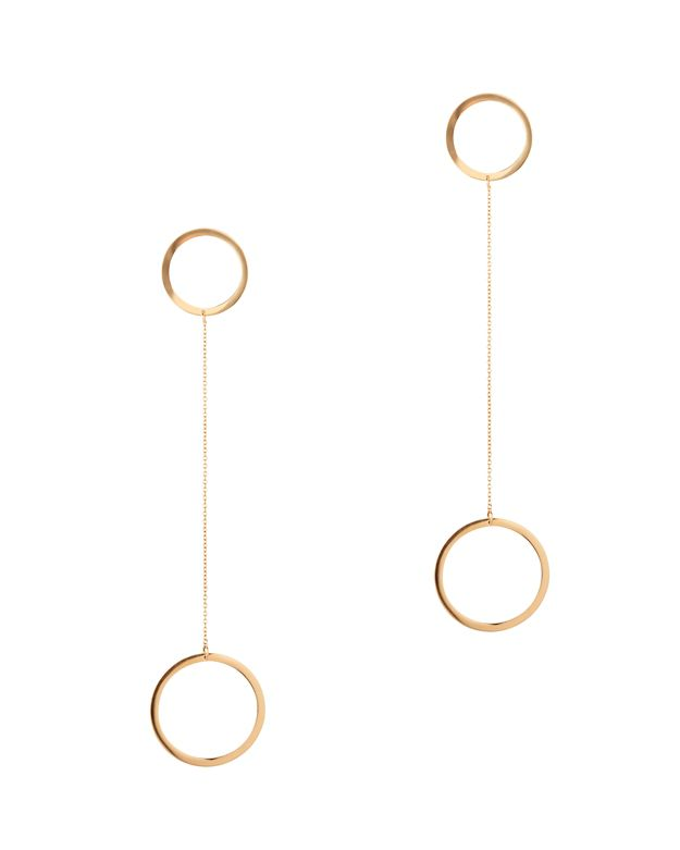 Jennifer Zeuner Laine Circle Drop Earrings