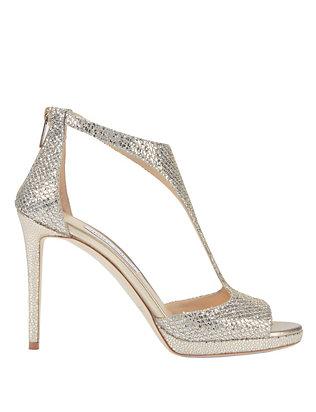 Lana Glitter T-Strap Platform Sandals