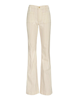FRAME Le Bardot Cypress Striped Flare