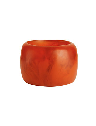 Dinosaur Designs Marbled Resin Bangle: Red