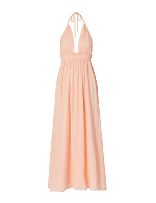 LOVESHACKFANCY Braided Halter Maxi Dress