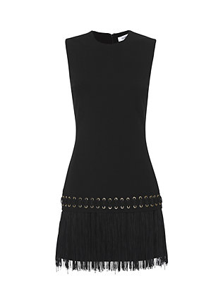 Elizabeth and James Eron Fringe Dress: Black