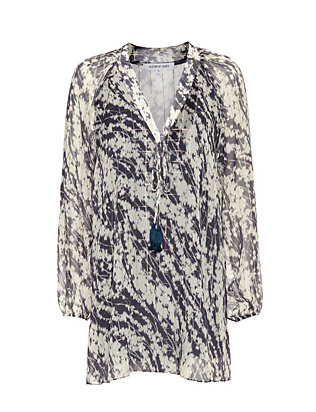 Elizabeth and James Charlee Lurex Printed Dress