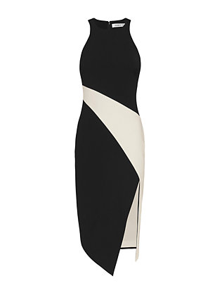 Elizabeth and James Shylen Asymmetric Bi-Color Dress