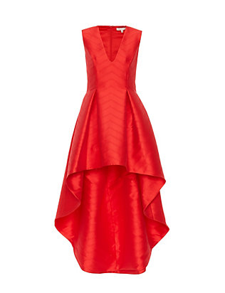 Alexis Lena Hi/Lo Gown: Red