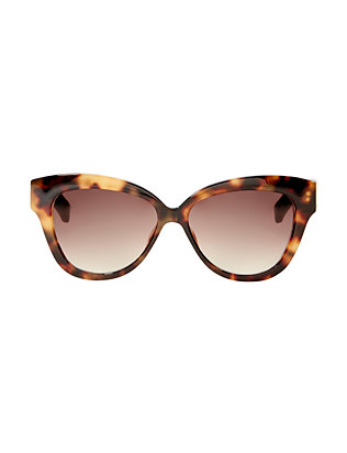 Linda Farrow Oversized Cat-Eye Tortoise Sunglasses