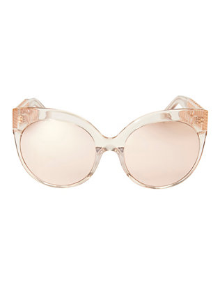 Linda Farrow Caged Arm Cat-Eye Sunglasses