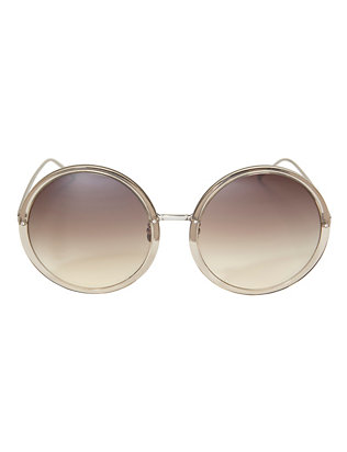 Linda Farrow Oversized Round Sunglasses: Grey