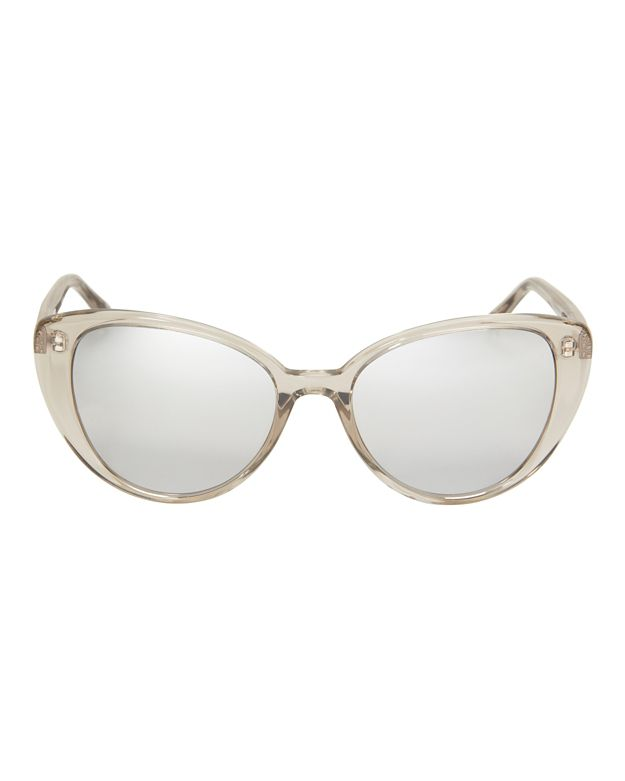 Linda Farrow Acetate Cat-Eye Sunglasses: Gold