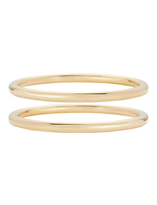 Lady Grey Gold-Tone Bangle Set