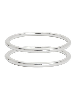 Lady Grey Silver-Tone Bangle Set