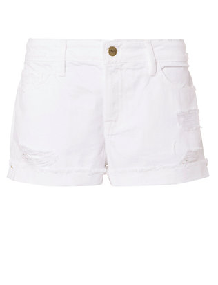 FRAME Le Grand Garcon White Jean Shorts