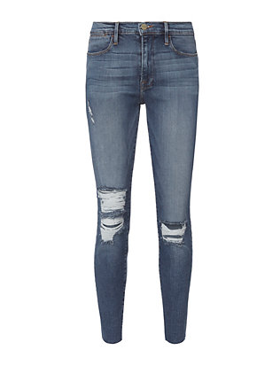 FRAME Le High Raw Edge Skinny Jeans