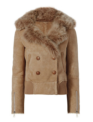 Shearling Lamb Bomber Jacket