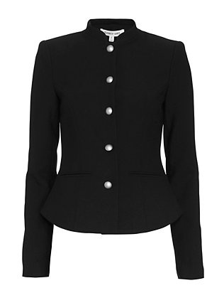 Elizabeth and James Abigail Military Jacket: Black