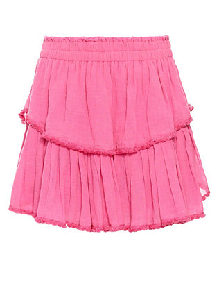 LOVESHACKFANCY Pom Ruffle Skirt