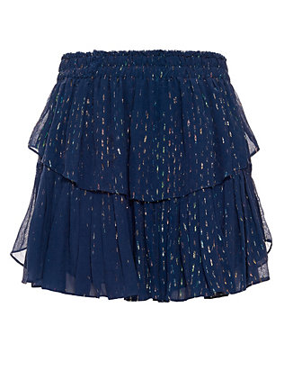 LOVESHACKFANCY Ruffled Lurex Mini Skirt