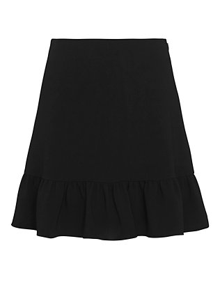 Elizabeth and James Piper Flutter Detail High Waist Mini Skirt
