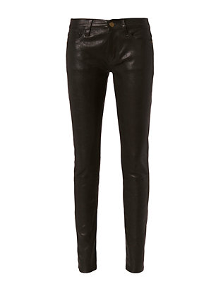 Le Leather Black Skinny Pants