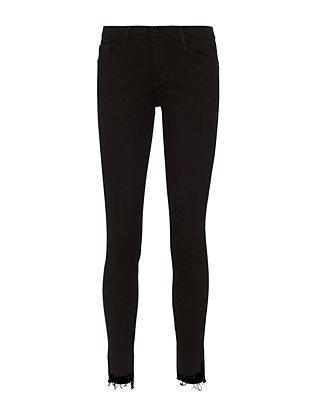 Le Skinny De Jeanne Noir Raw Stagger Jeans