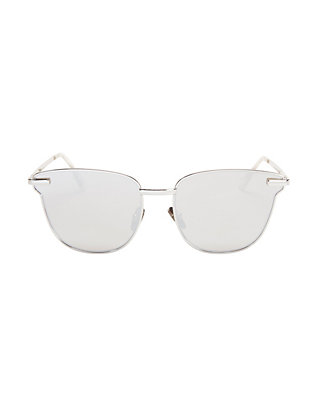 Pharaoh Metal Frame Sunglasses: Silver