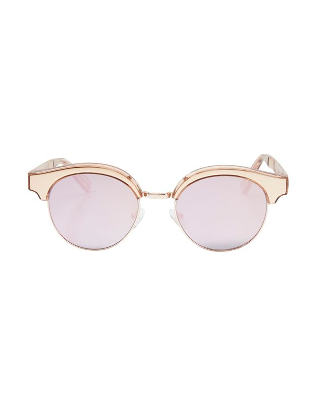 Le Specs Luxe Cleopatra Gold Tone Metal Half Frame ...