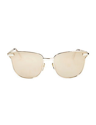 Le Specs Luxe Pharaoh Metal Frame Sunglasses: Gold