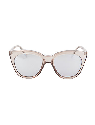 Le Specs Halfmoon Magic Clear Sunglasses