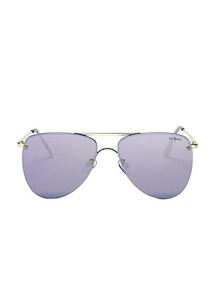 The Prince Mirrored Lenses Flat Aviator Sunglasses