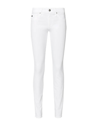 AG The Stilt Cigarette Leg White Jeans